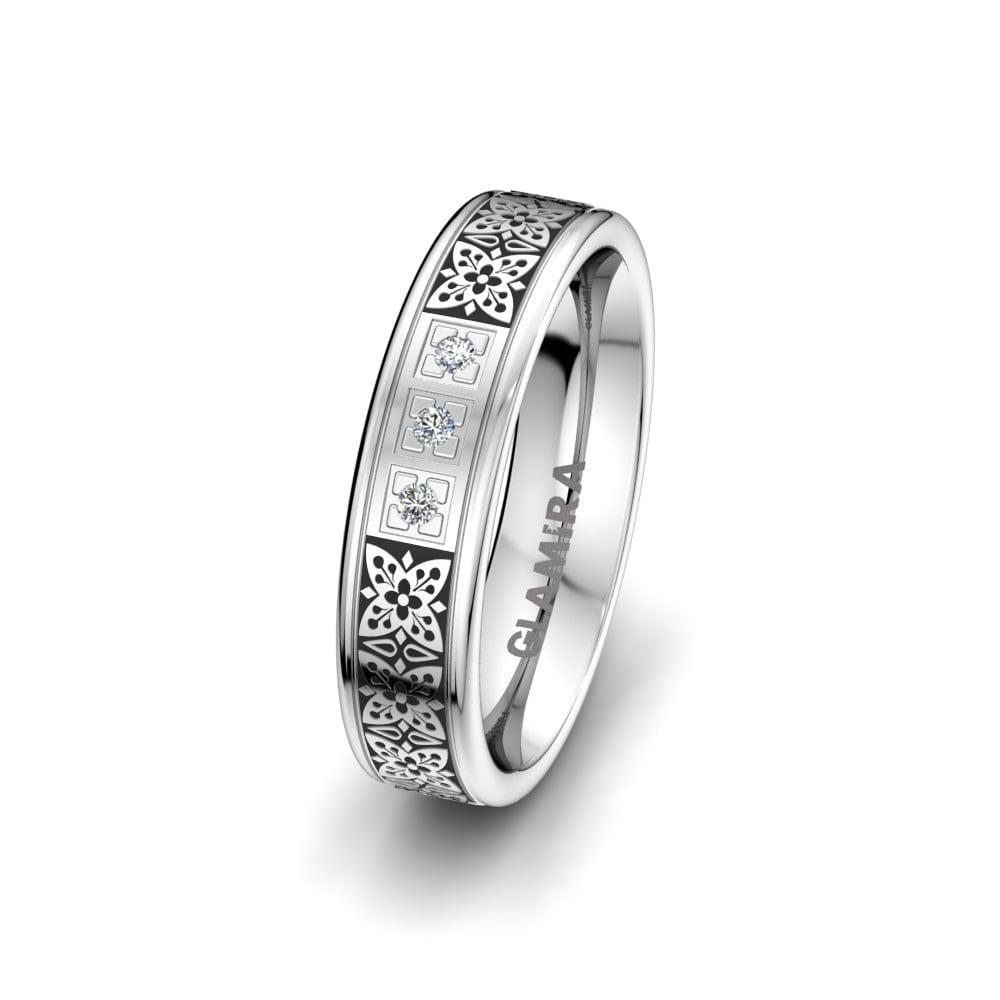 Women's ring Ornate Butterfly 5 mm