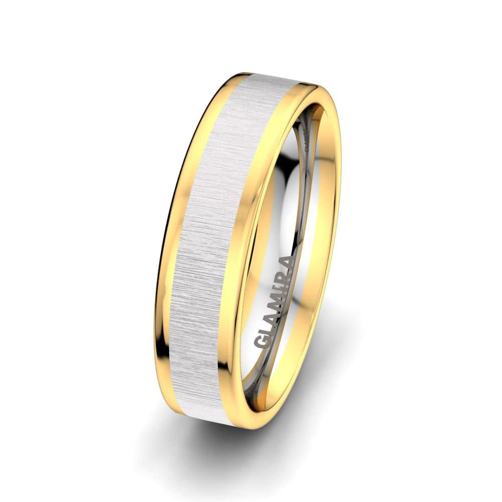 Men's Ring Golden Heart 6 mm