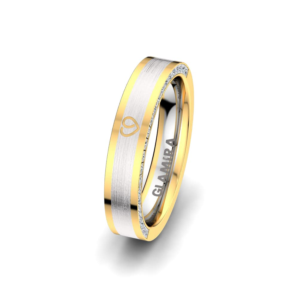 Women's Ring Golden Heart 4 mm
