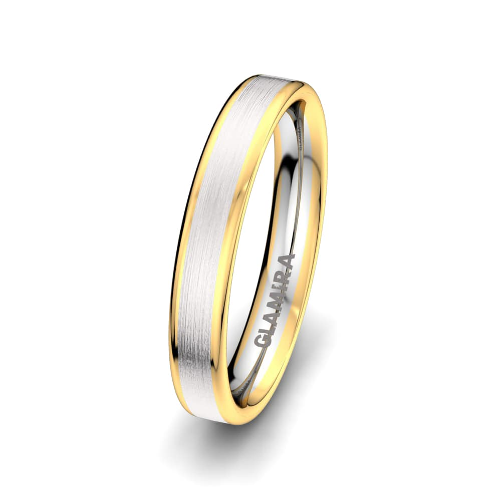 Men's Ring Golden Heart 4 mm
