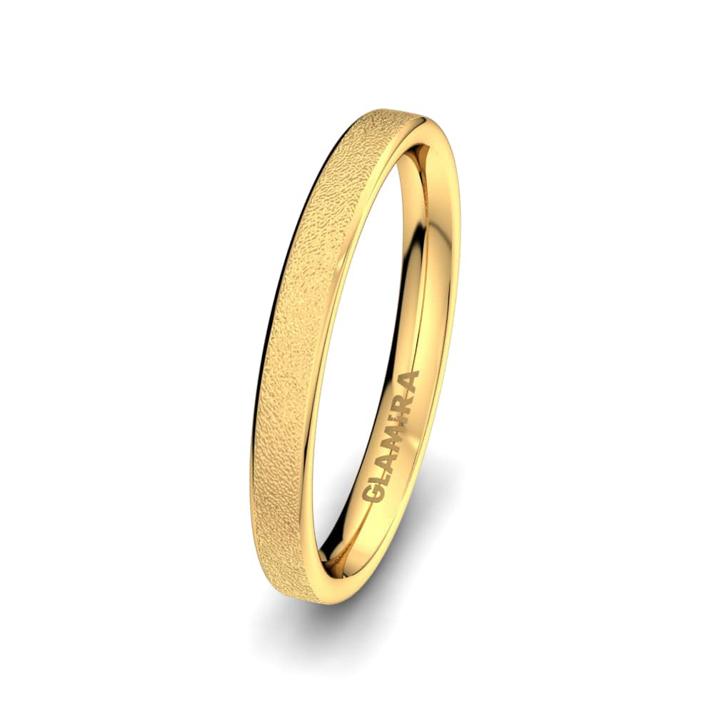 Men's Ring Golden Heart 3 mm