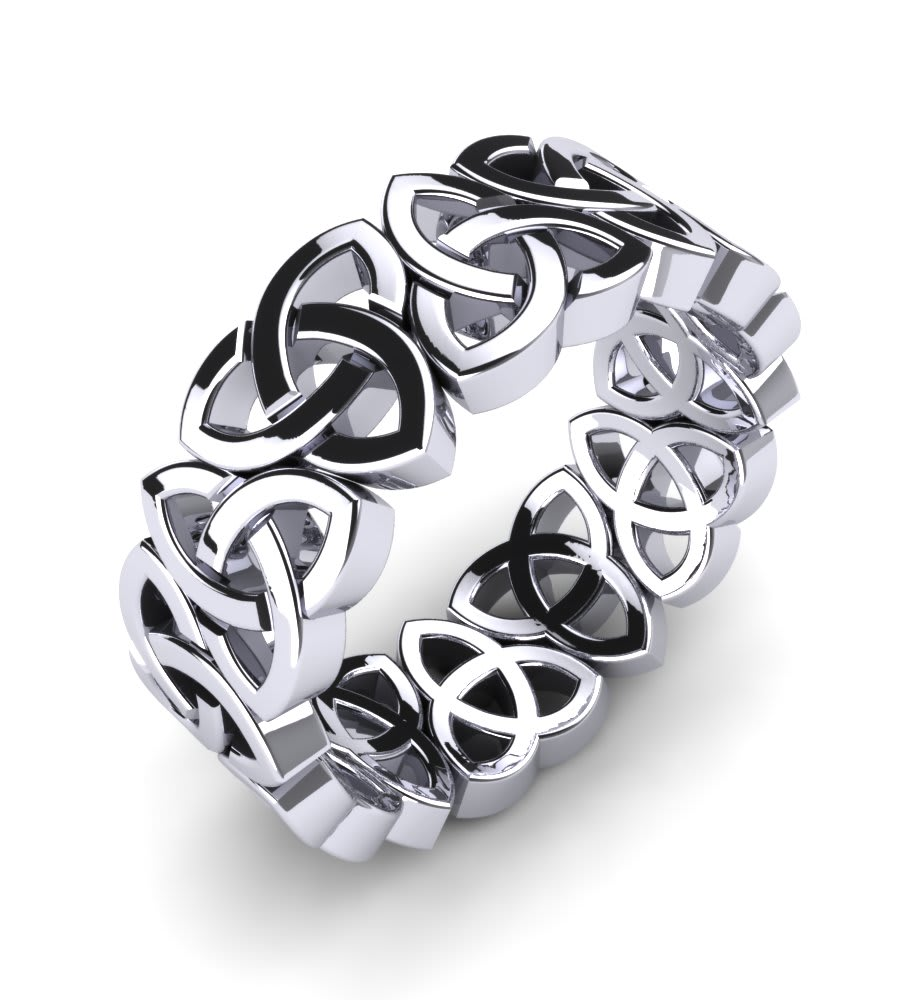 Men's Ring Celtic Chain