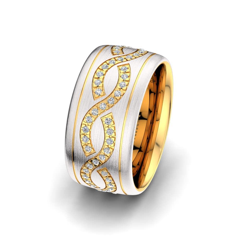Ženski prstani Bright Maze 10 mm