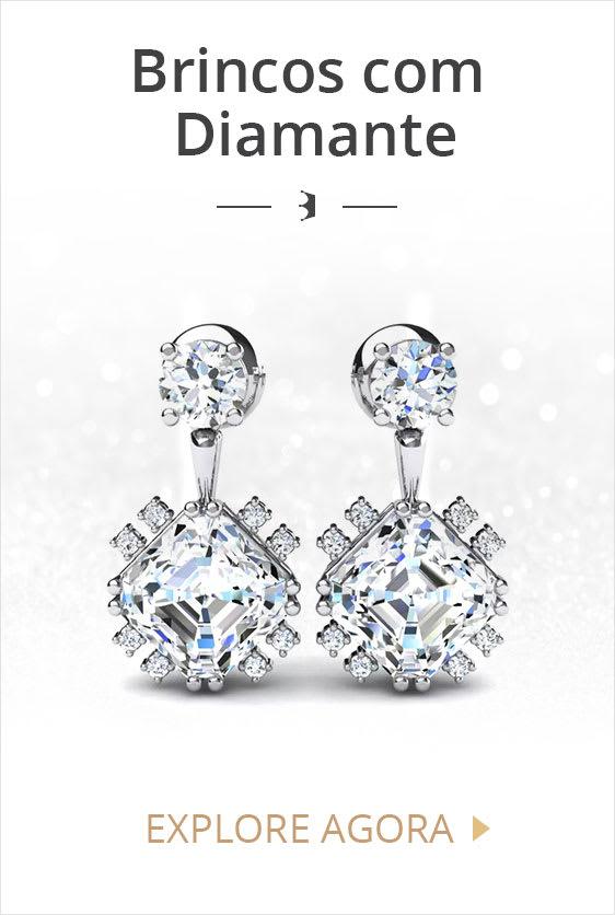 Brincos com Diamantes