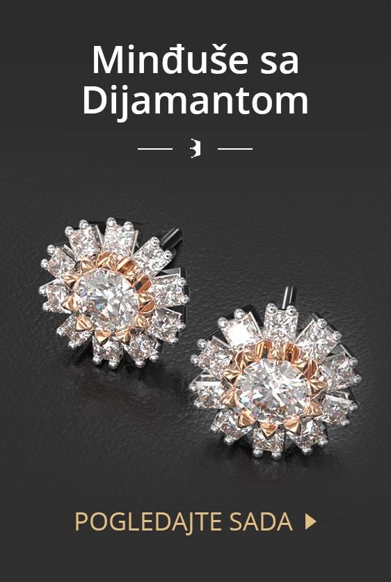 Minđuše sa dijamantom