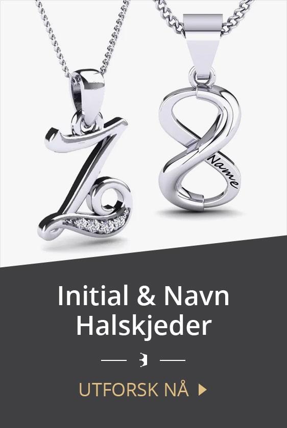 Initial & navn halskjeder