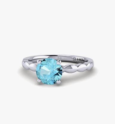 halo aqua ring finger oval on stone rings products engagement aquamarine diamond