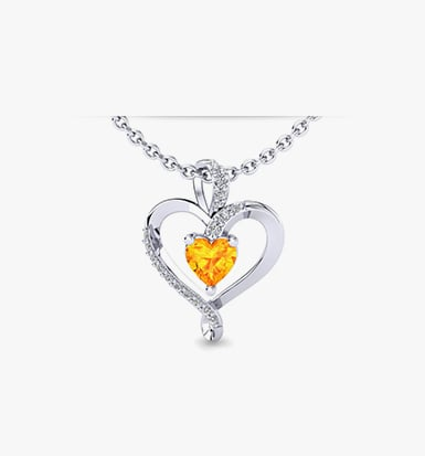Citrine diamond and gemstone jewelry glamira citrine necklaces mozeypictures Image collections