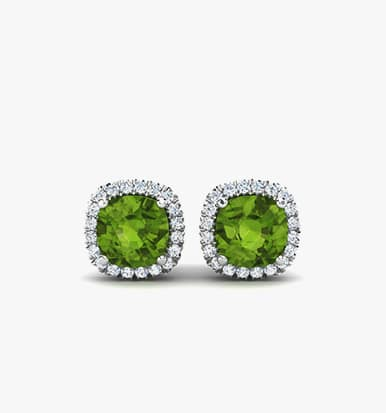 stone white silver sapphire sterling item in stud earrings and zirconia peridot