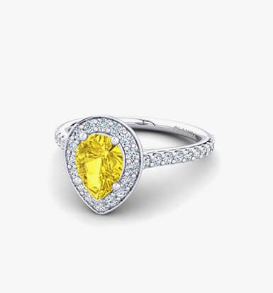 Yellow sapphire Personalized Fine Gold Jewelry