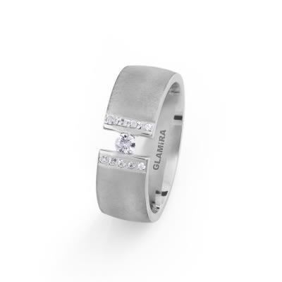 Damenring Silver Opaque