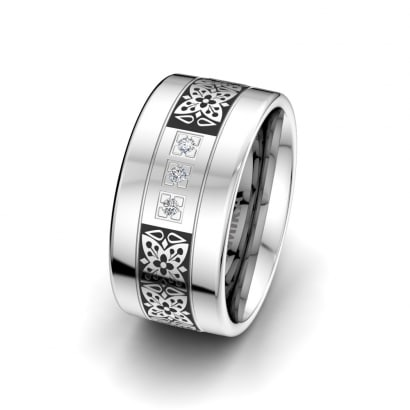 Bague pour femmes Ornate Butterfly 10 mm