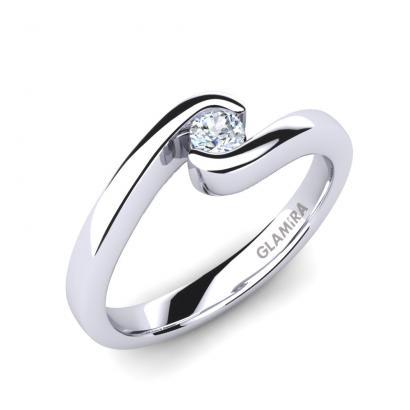 GLAMIRA Bague Bridal Luxuy 0.1crt