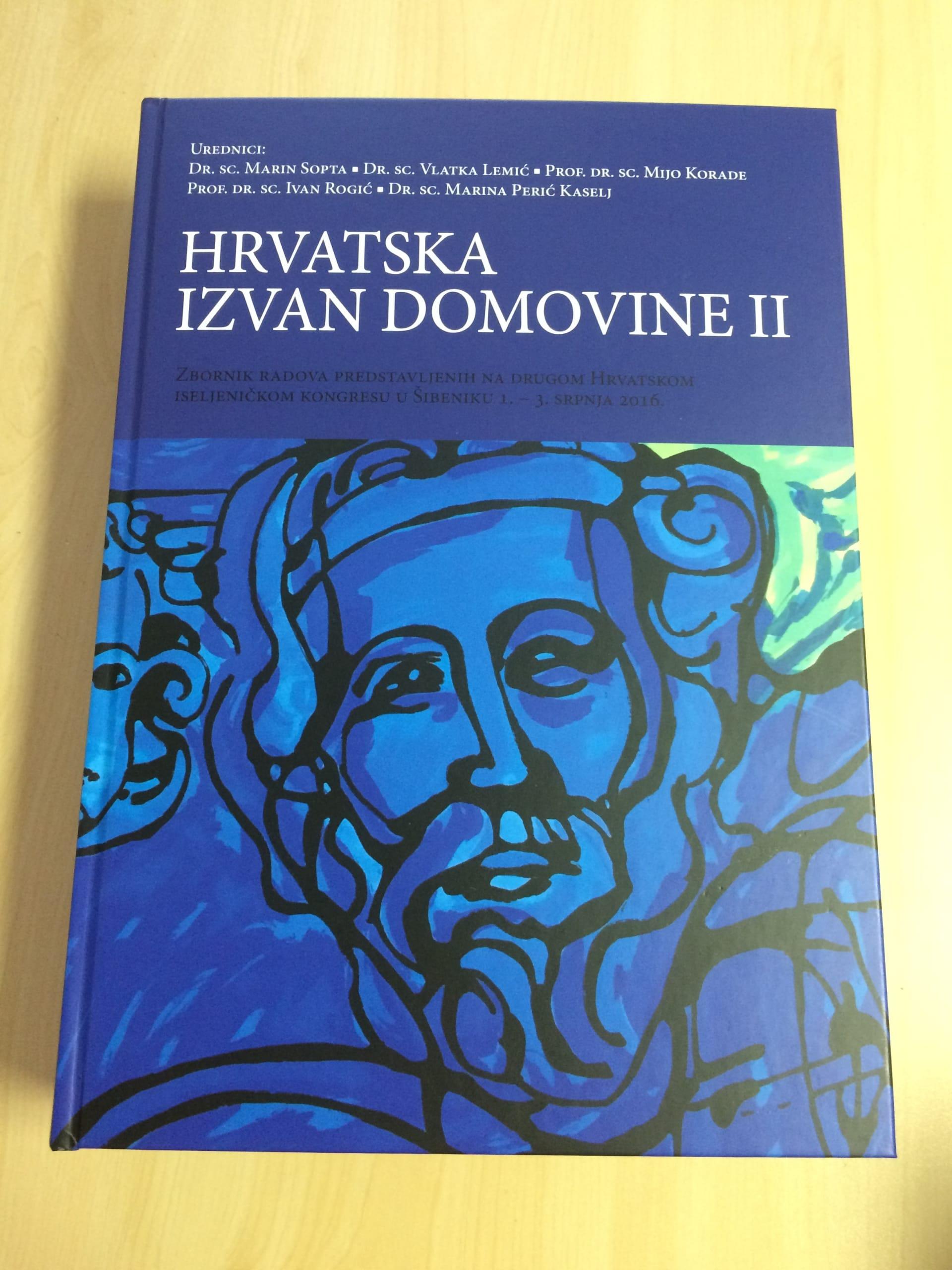 """Die Sammlung der wissenschaftlichen Arbeiten des zweiten Auslandskroaten-Kongresses """"Hrvatska izvan domovine II"""" (Foto: Antunela Rajic)"""