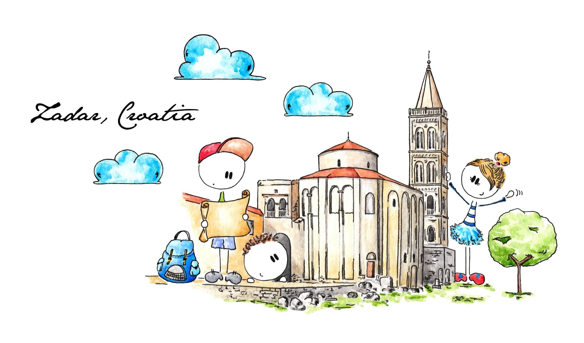 Die Kirche des heiligen Donat in Zadar