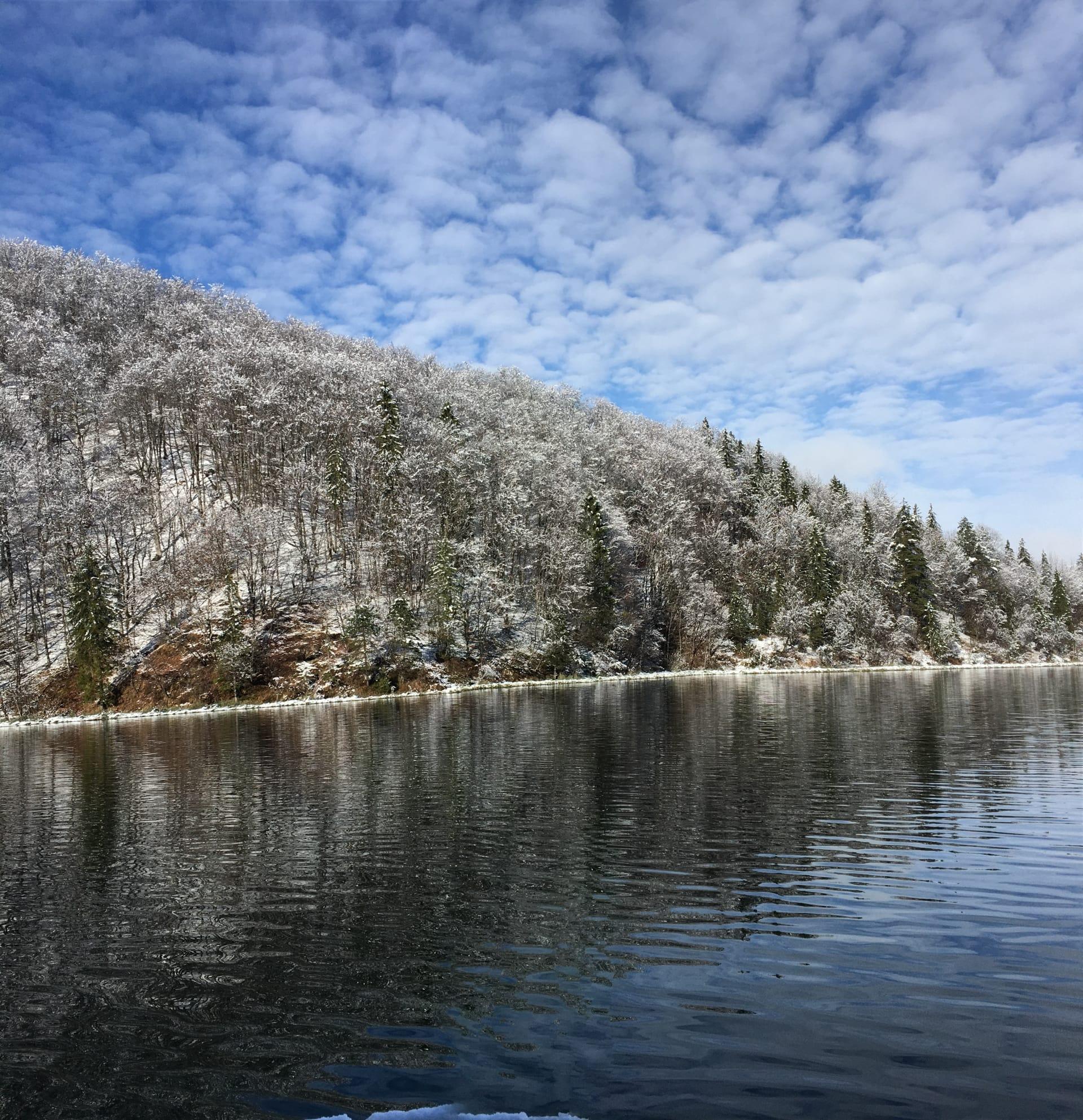 Die Plitvicer Seen im Winter (Foto: Tonči Petrić/Stimme Kroatiens)