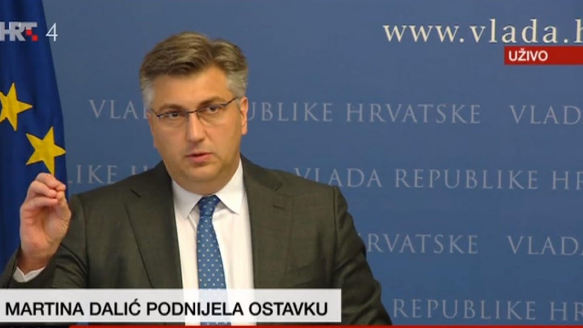 Premier Andrej Plenkovic. (Foto: HRT.hr)