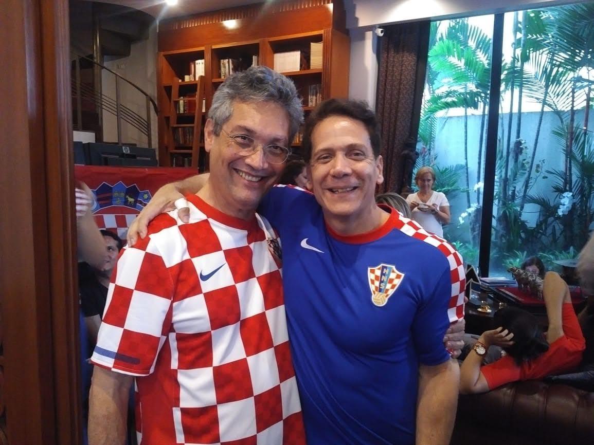 Tomislav Topić y Luis Avilés (Foto: Asociación Croata Ecuatoriana)