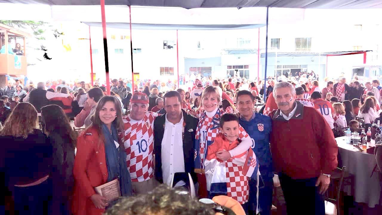 Croatas durante el Mundial (Foto: consulado croata)