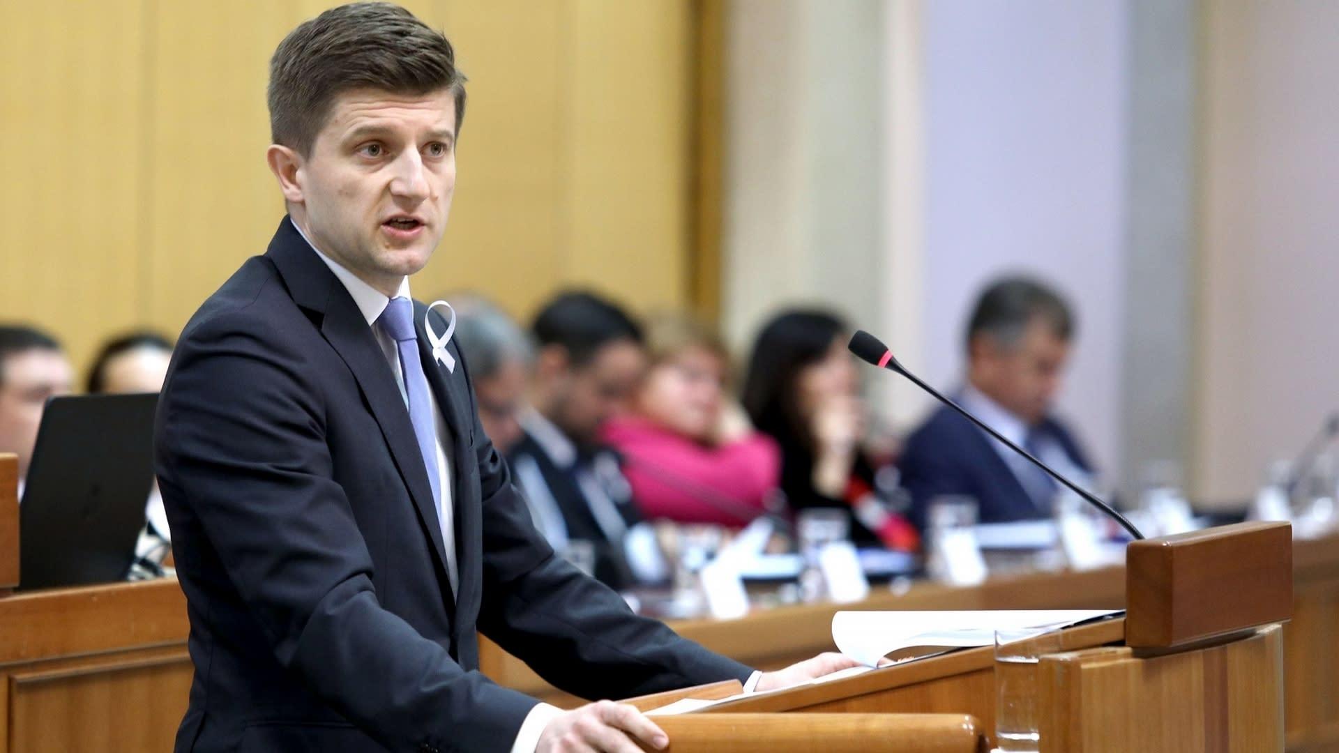 El ministro de Finanzas Zdravko Marić. (Foto: Patrik Macek/PIXSELL)