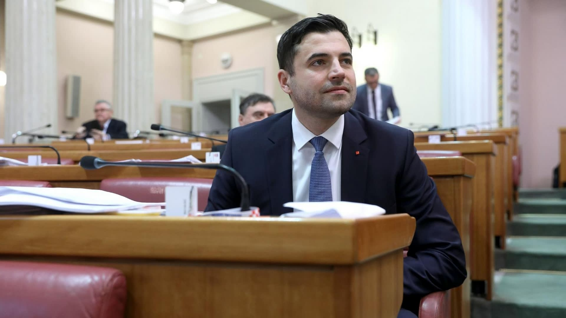 Davor Bernardić presidente del SDP. (Foto: Patrik Macek/PIXSELL)