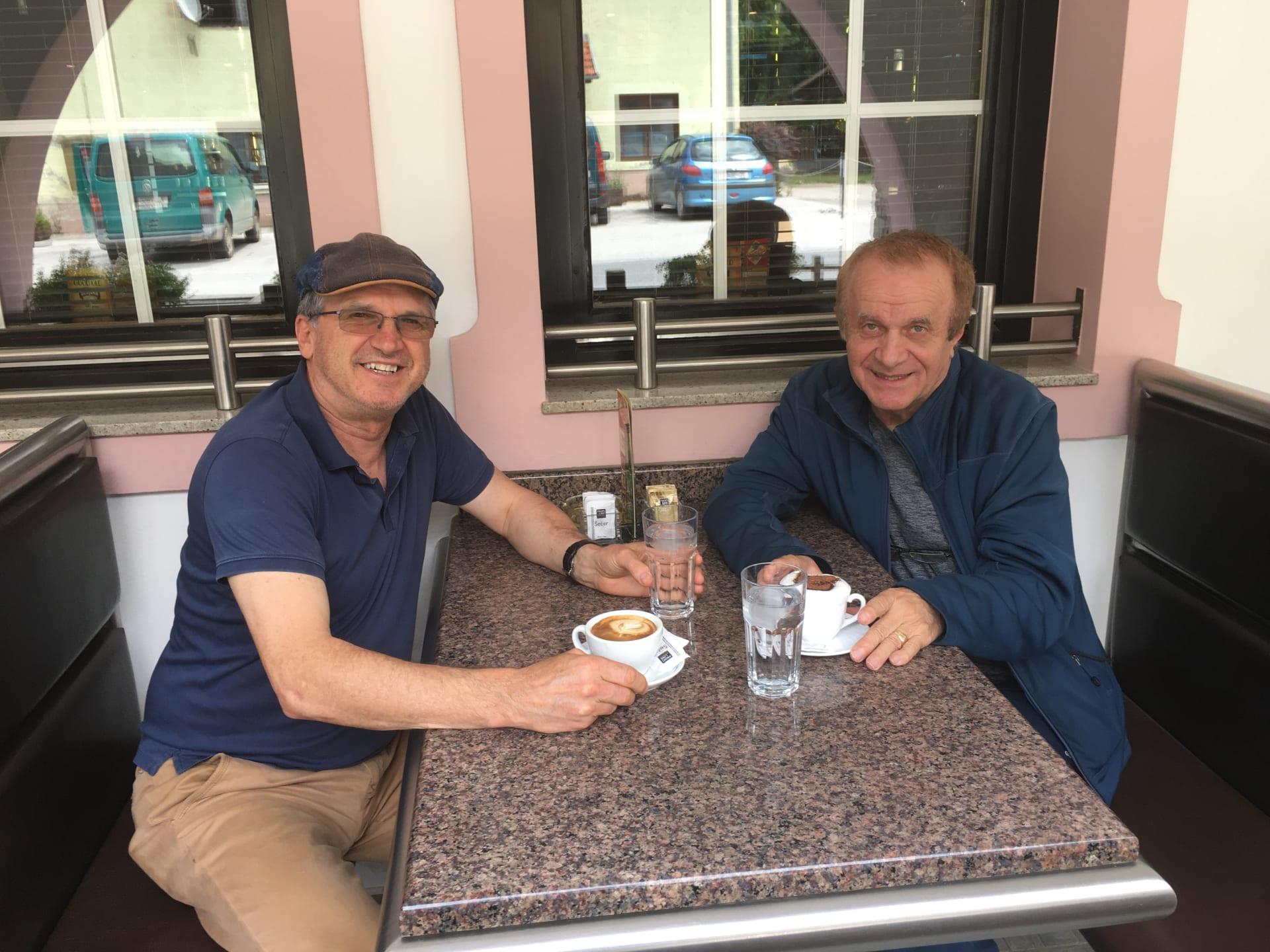 Foto: Damir Posavac (Vid Horvat s našim novinarom)