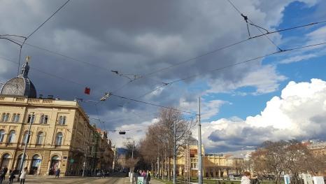 Vista desde la estación de ferrocarril de Zagreb