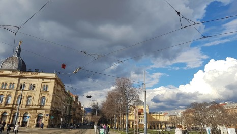 Ausblick vom Hauptbahnhof in Zagreb