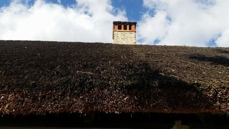 Dach eines traditionellen Hauses im Herzen von Zagorje.