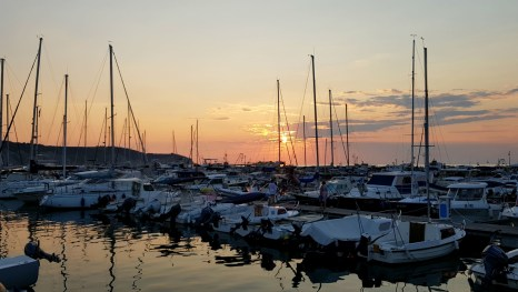 Twilight in the marina