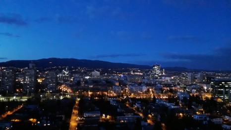 Zagreb u zimskome sutonu