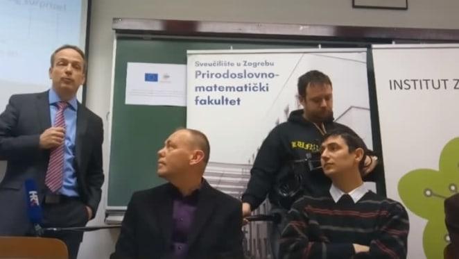 Konferencija za medije povodom najnovijih rezultata istraživanja prof. Nevena Barišića, prof. Miroslava Požeka i dr. Petra Popčevića