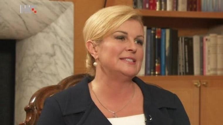 Staatspräsidentin Kolinda Grabar-Kitarović (Foto HRT)