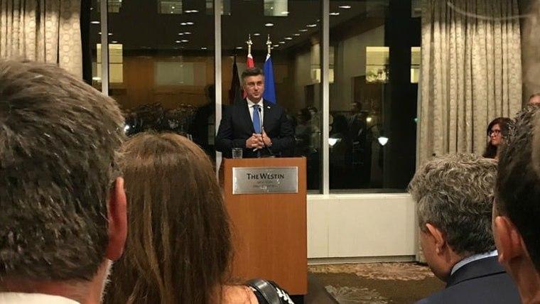 Premijer s Hrvatima u New Yorku (Foto: vlada.hr)