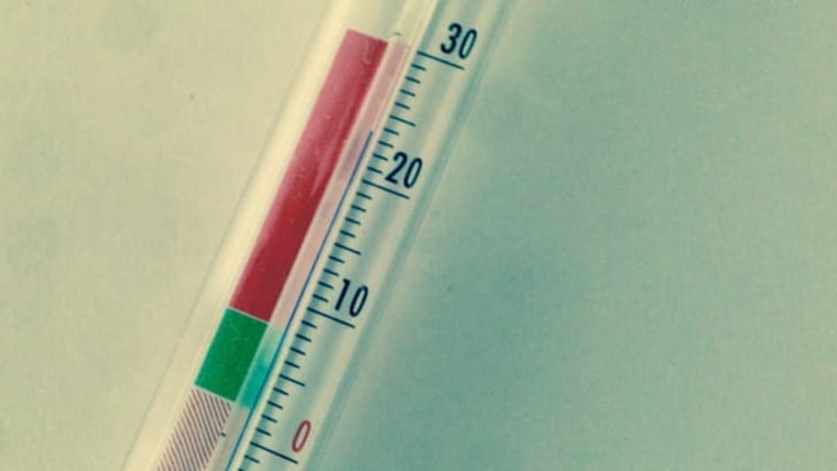 The author's thermometer in Celsius (Photo: Cody McClain Brown)