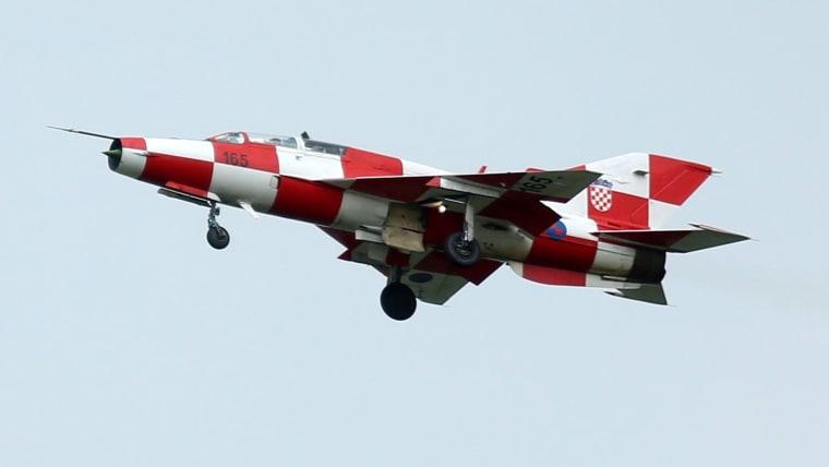 A Croatian MiG 21 combat aircraft. (Photo: Borna Filic/PIXSELL)