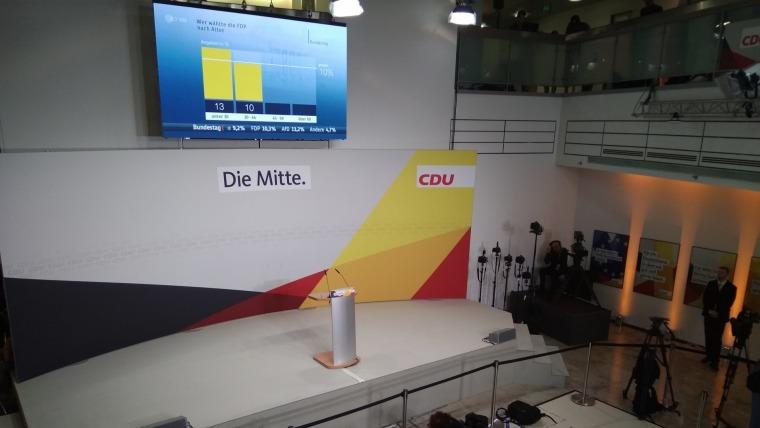 Parteizentrale der CDU in Berlin am Wahlabend (Foto: Tonči Petrić/Stimme Kroatiens)