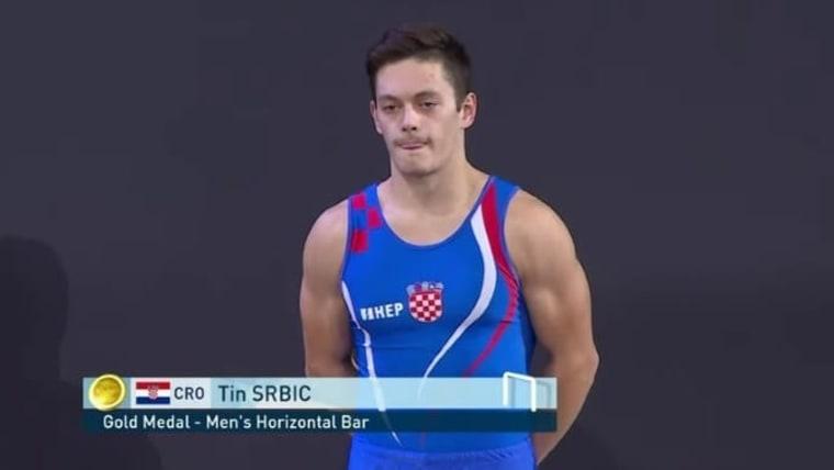 Croatian gymnast Tin Srbić, horizontal bar world champion. (Photo: HRT)