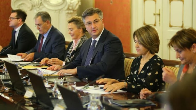PM Andrej Plenković at today's cabinet session (Photo: Jurica Galoic/PIXSELL/HRT)