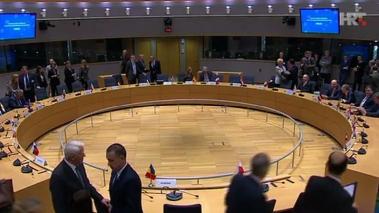 EU foreign and defense ministers meeting in Brussels (Photo: HRT)