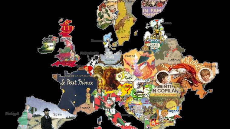 Karta najljepših dječjih književnosti Europe (Foto: bookstr.com)