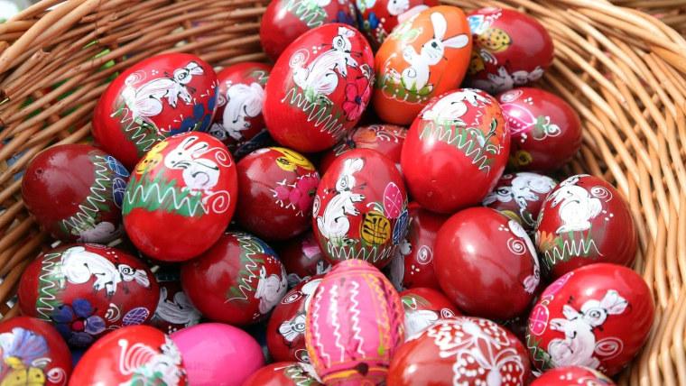 Huevos decorados (Foto: Dusko Jaramaz/PIXSELL)
