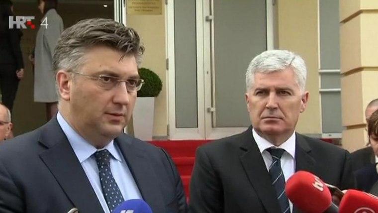 Andrej Plenković y Dragan Čović en Mostar (Foto: HRT)