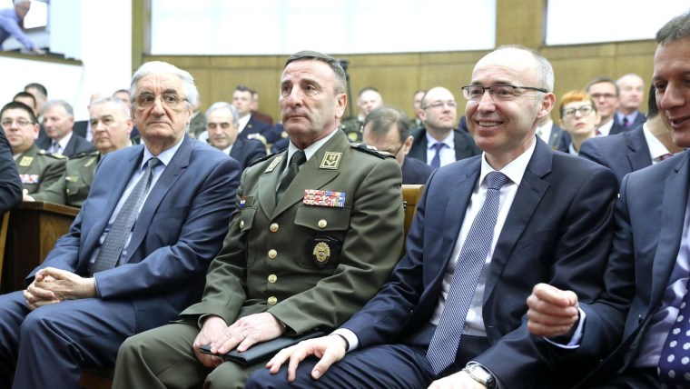 Miroslav Tuđman, Mirko Šundov, Damir Krstičević (Photo: Patrik Macek/PIXSELL)