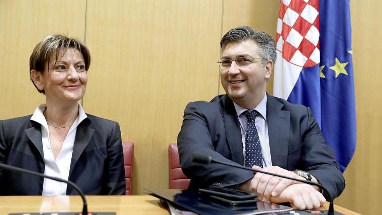 Martina Dalić und Andrej Plenković (Foto: HRT)