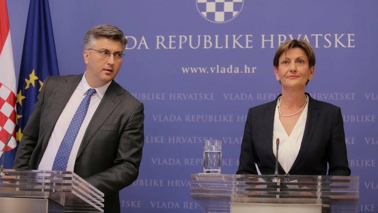 Premier Plenković und Martina Dalić (Foto: HRT)