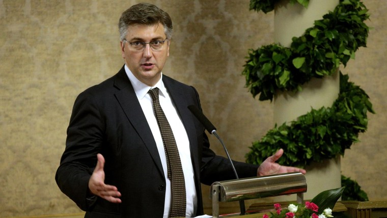Prime Minister and Croatian Democratic union leader Andrej Plenković (Photo: Zarko Basic/PIXSELL)