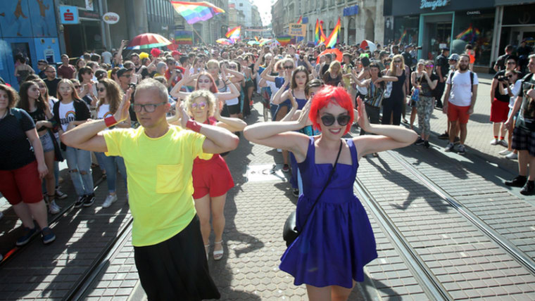Correspondents say prejudice against homosexuality is strong in Croatia