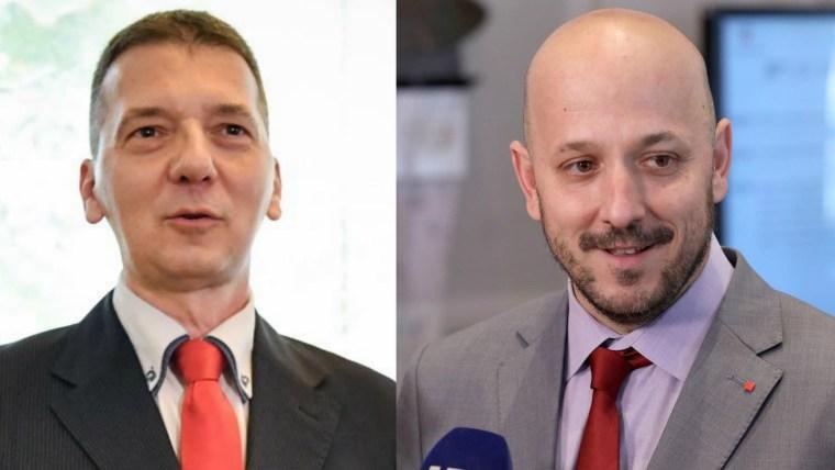 Los candidatos Denis Hrestak  y Gordan Maras. (Foto HRT.hr)