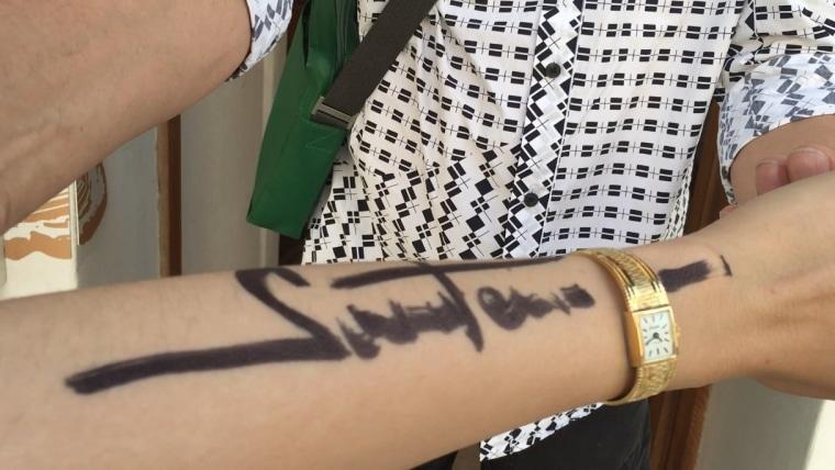 Potpis Radomira Sarađena. (Foto: Klara Špančić)